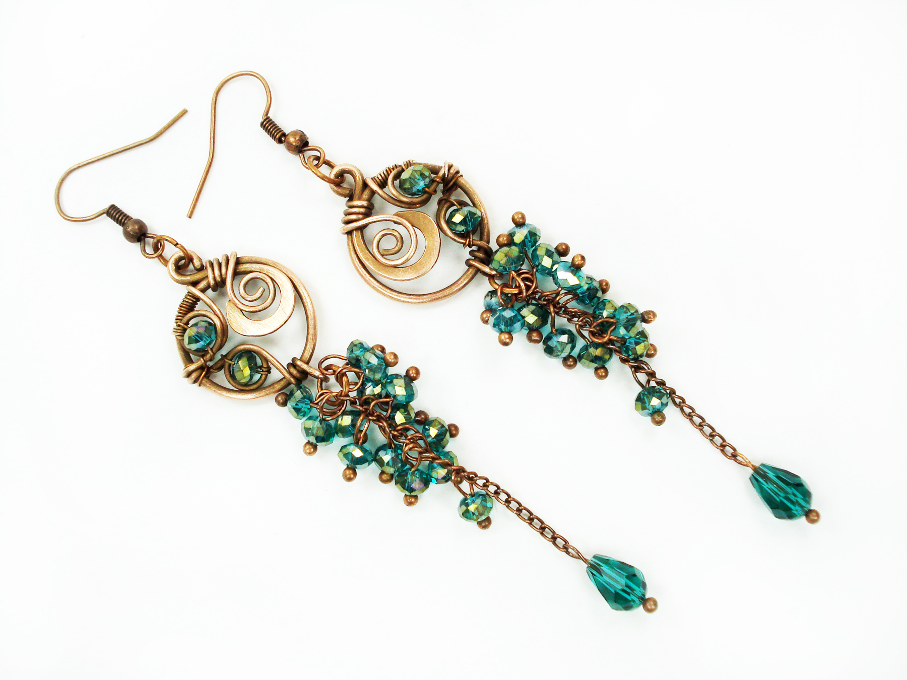 Emerald Green Dangle Earrings | MoodART